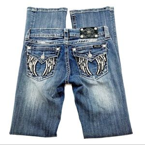 Miss Me Signature Boot Cut Jeans, Size 28, EUC